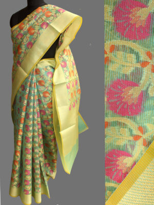 Green-kora-banarasi-saree